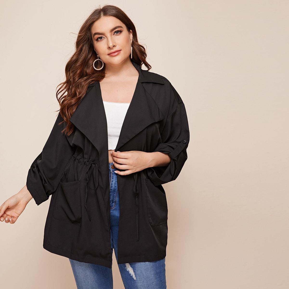 Пальто на кулиске размера плюс фото