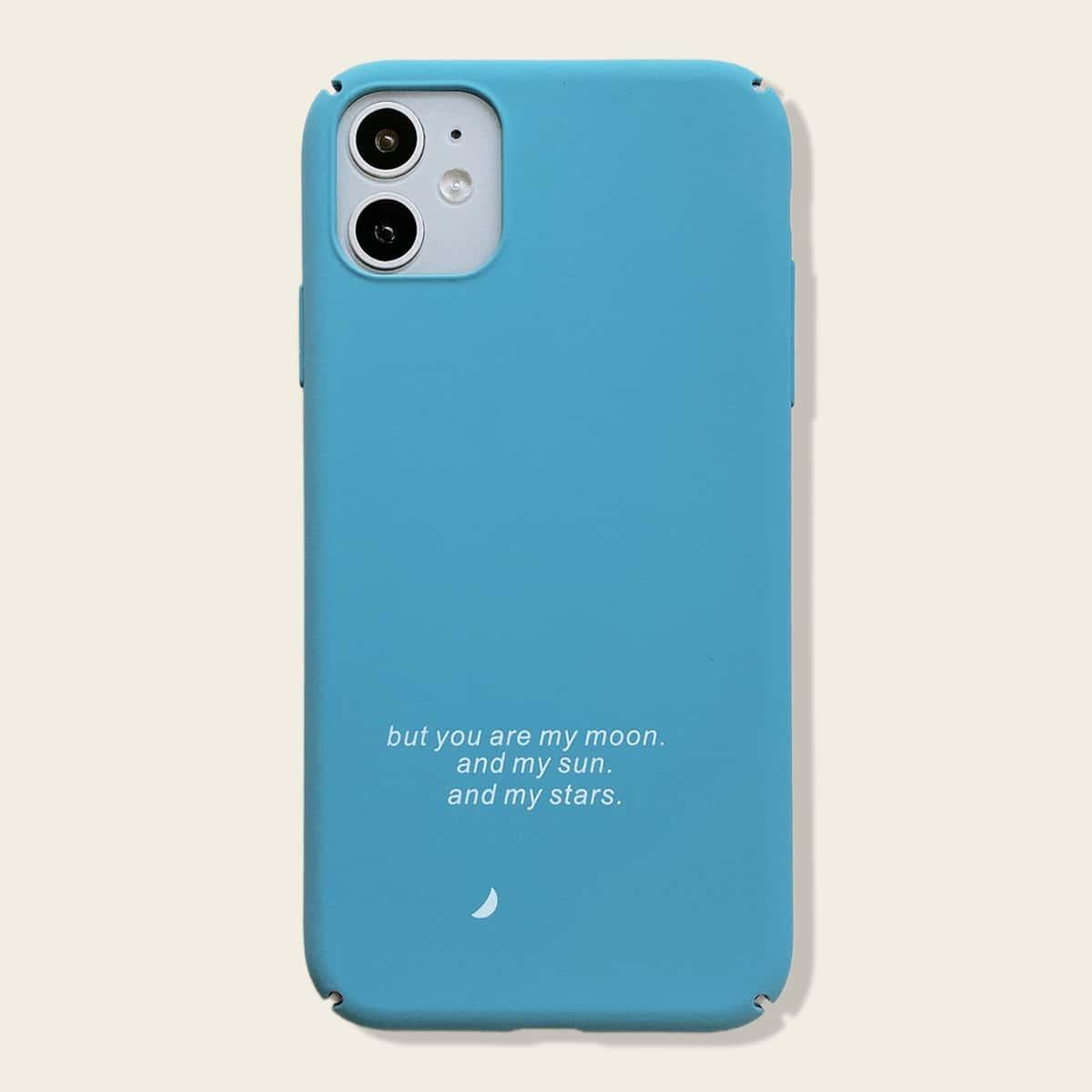 1шт чехол для iPhone с текстовым принтом фото