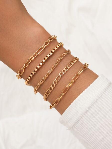 5pcs Simple Chain Bracelet