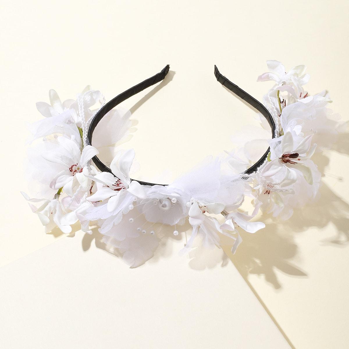 Ободок для волос с цветком для девочек фото