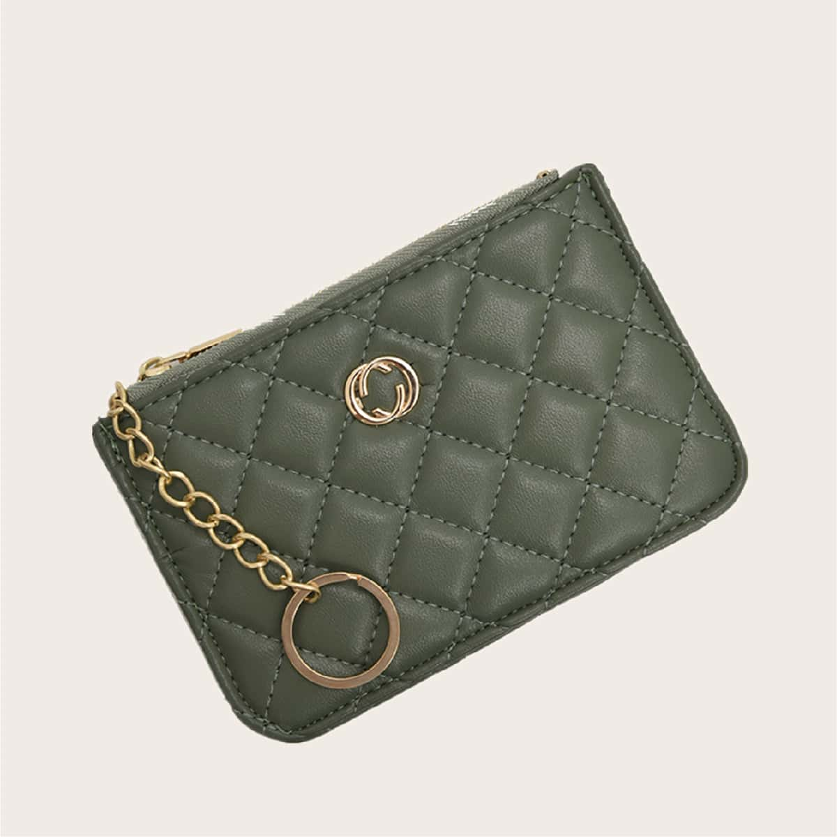 Metal Decor Quilted Purse (swbag18200713587) photo