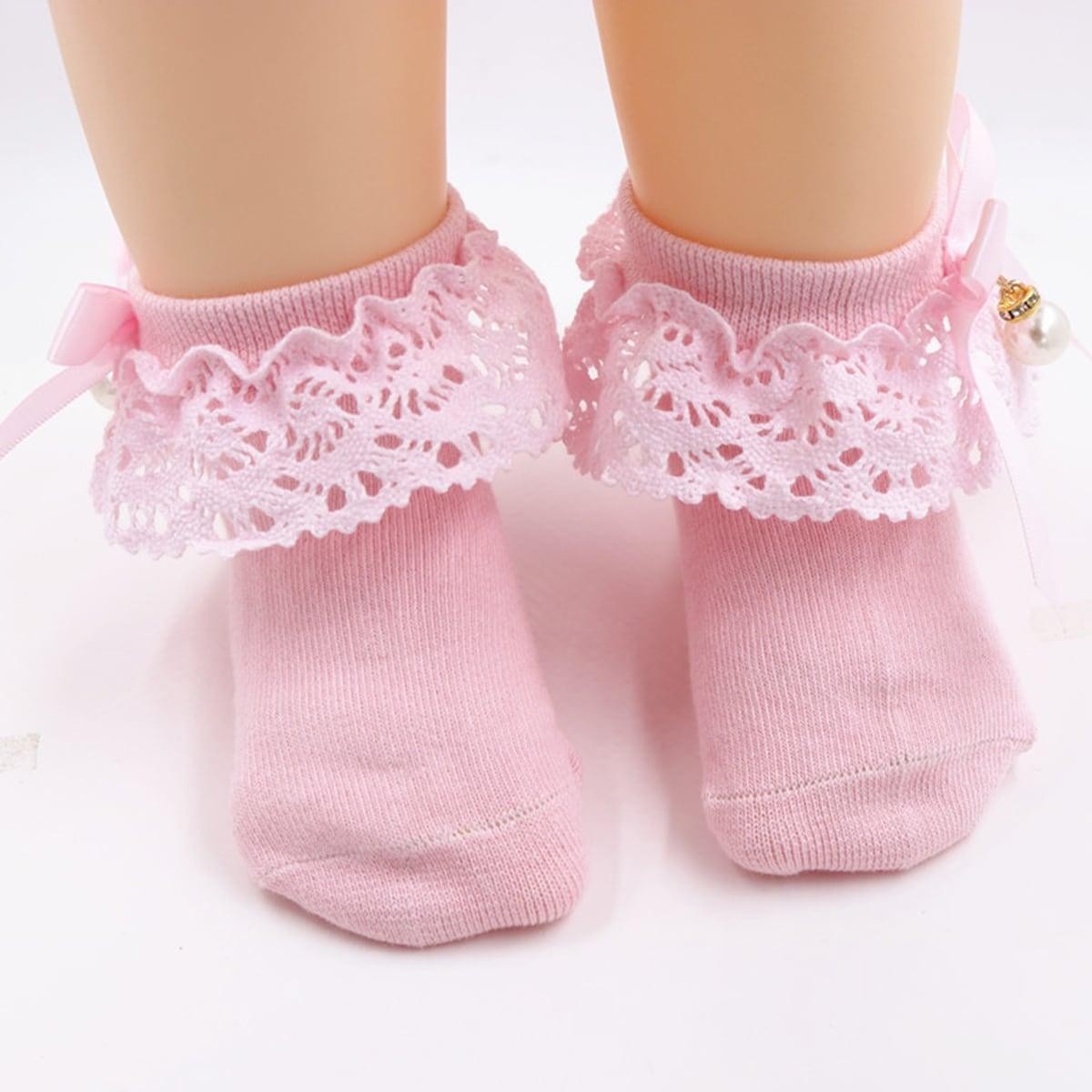 Детские носки с кружевной отделкой фото