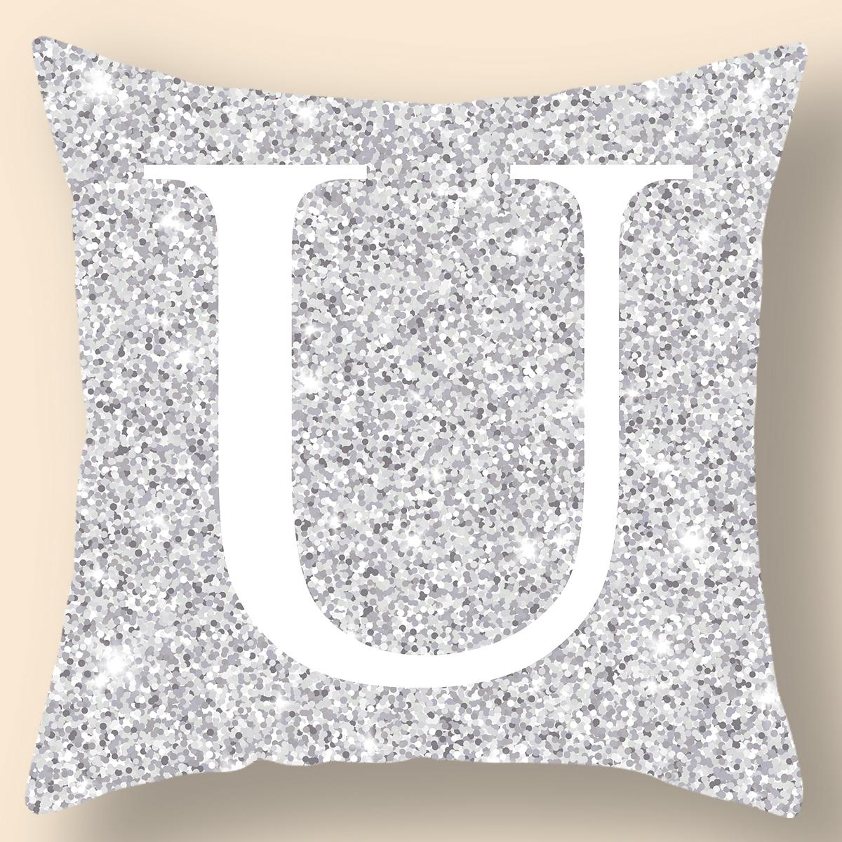 Чехол для подушки с алфавитным принтом без наполнителя фото