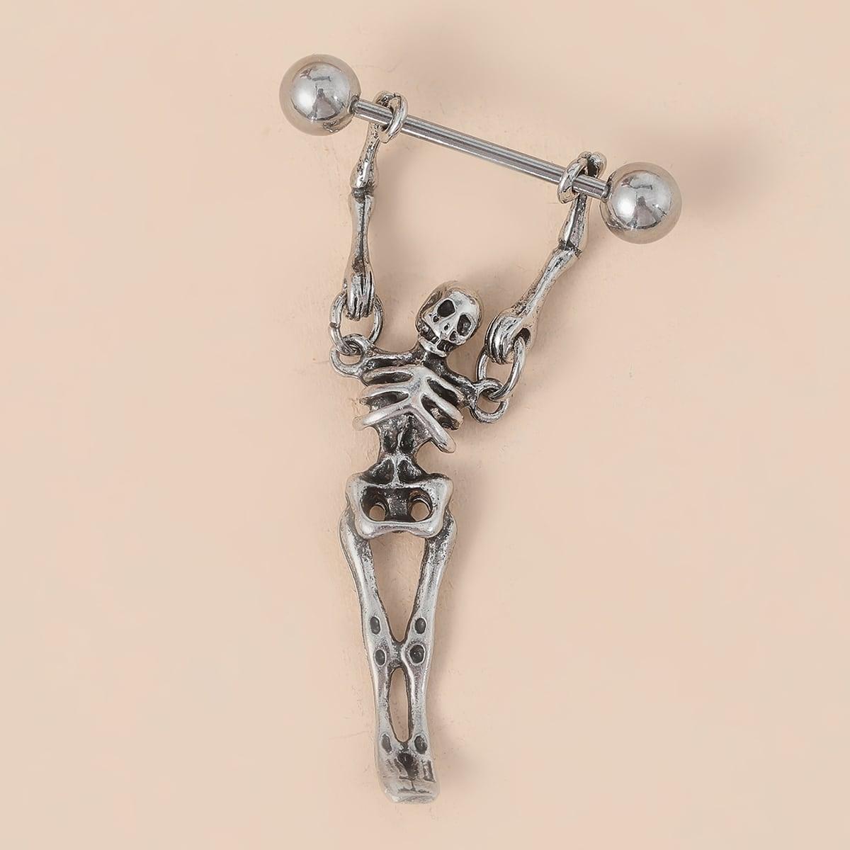 Кольцо для сосков с скелетом из нержавеющей стали