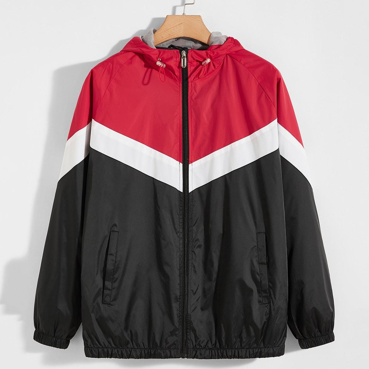 Многоцветный Спортивный Мужские Спортивные Куртки