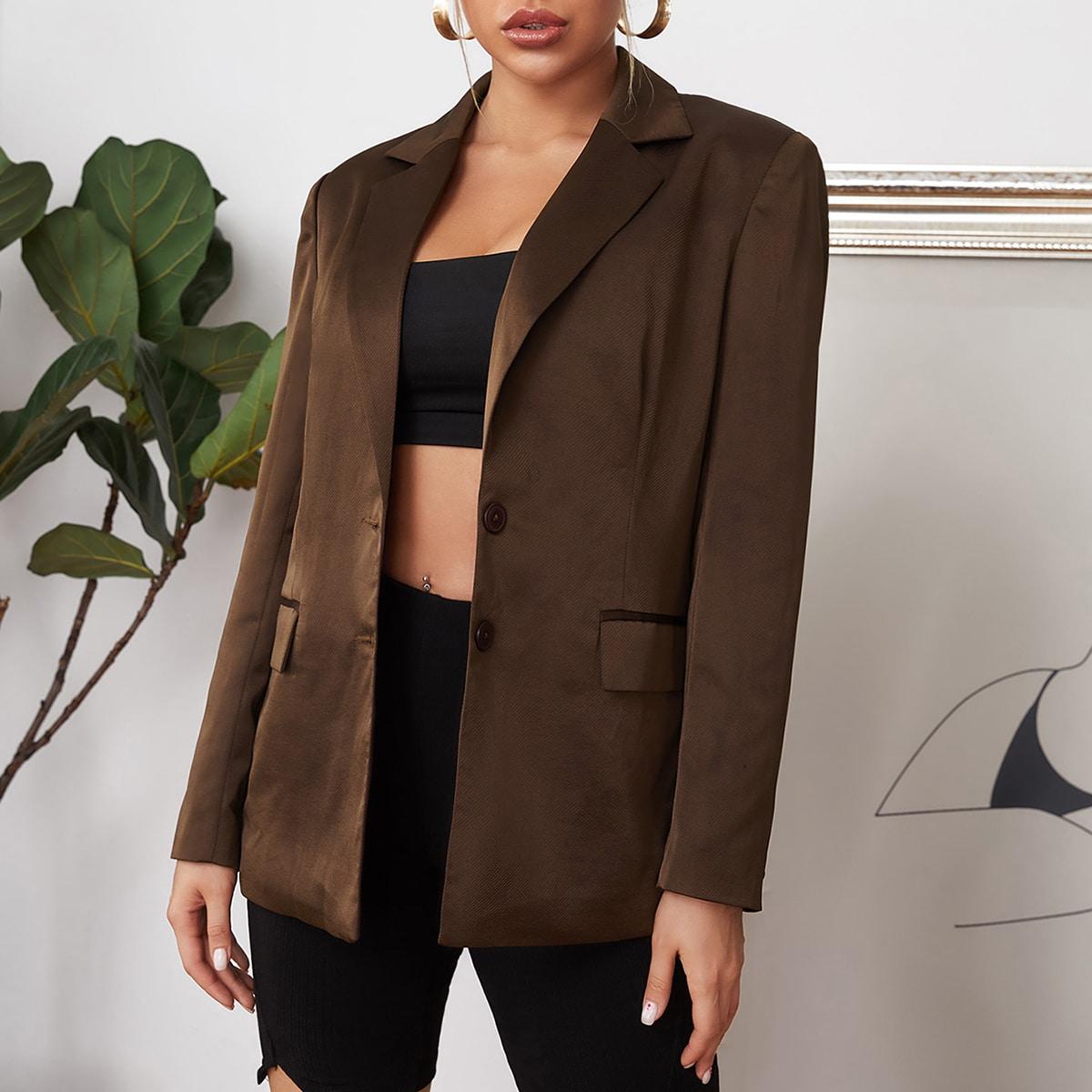 Пиджак с оригинальным воротником от SHEIN