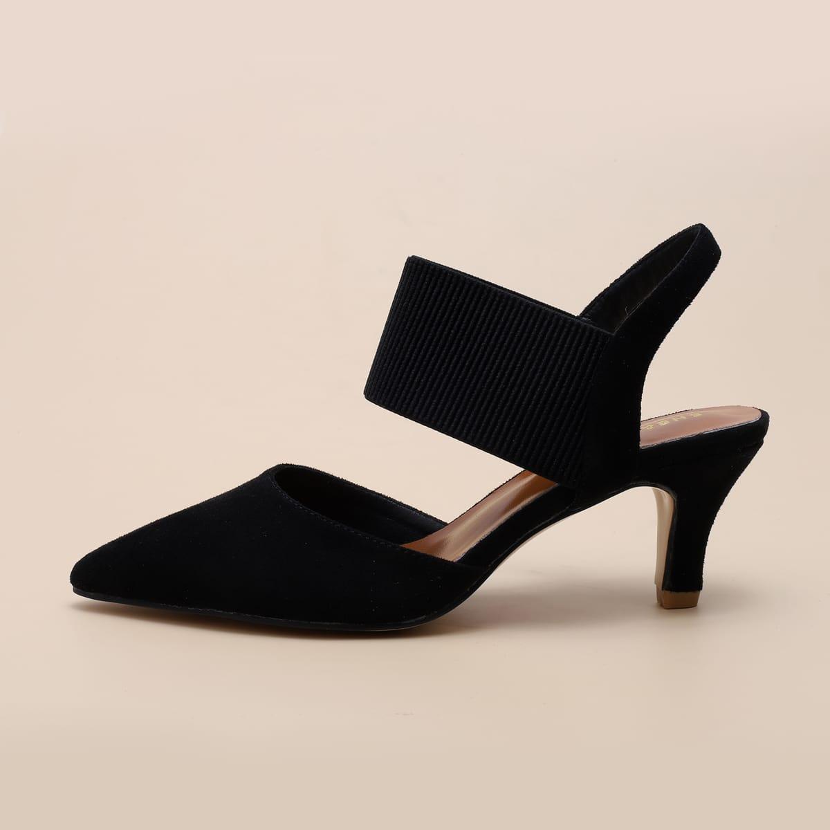 Остроконечные туфли на шпильках с ремешком