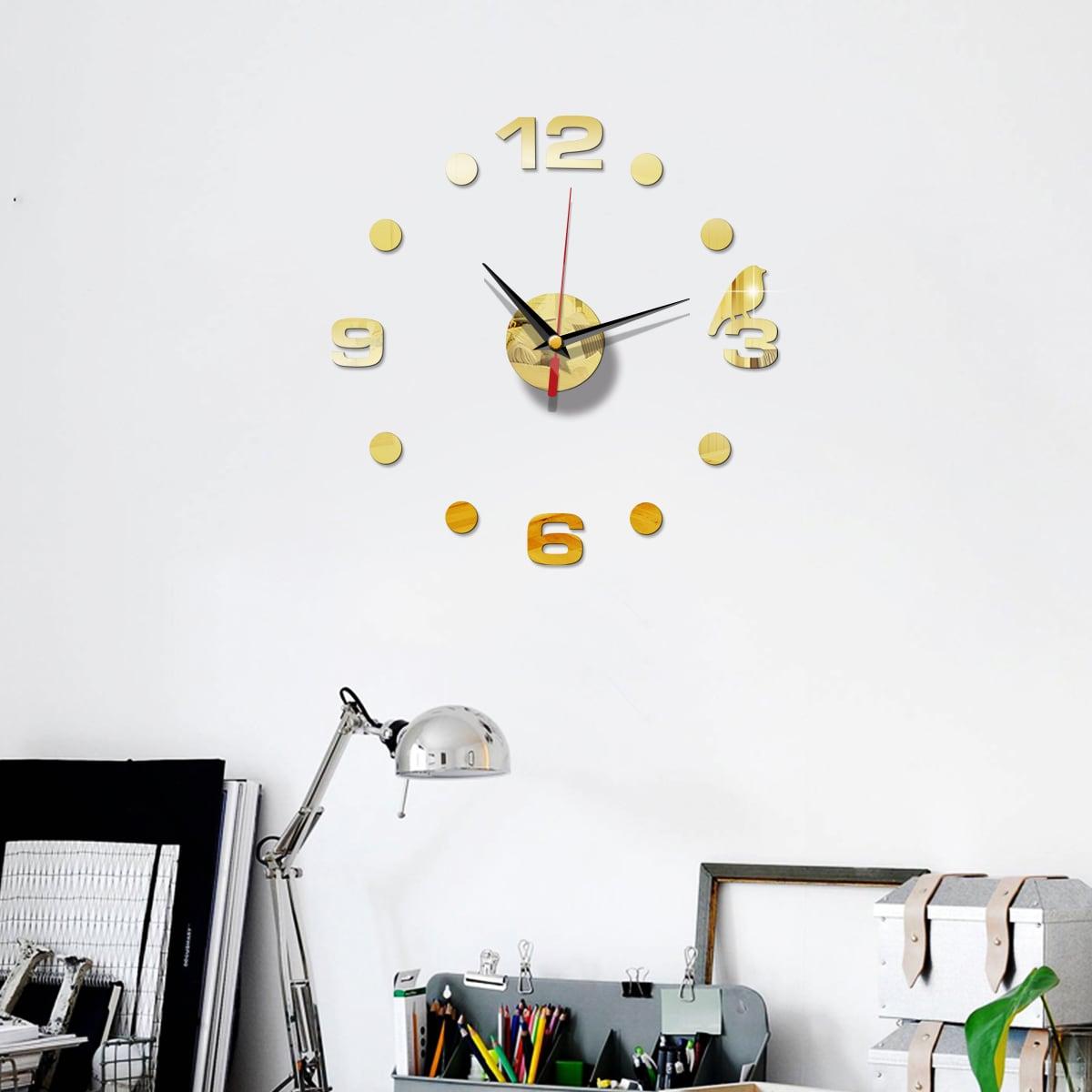 Настенные часы с зеркальной поверхностью фото