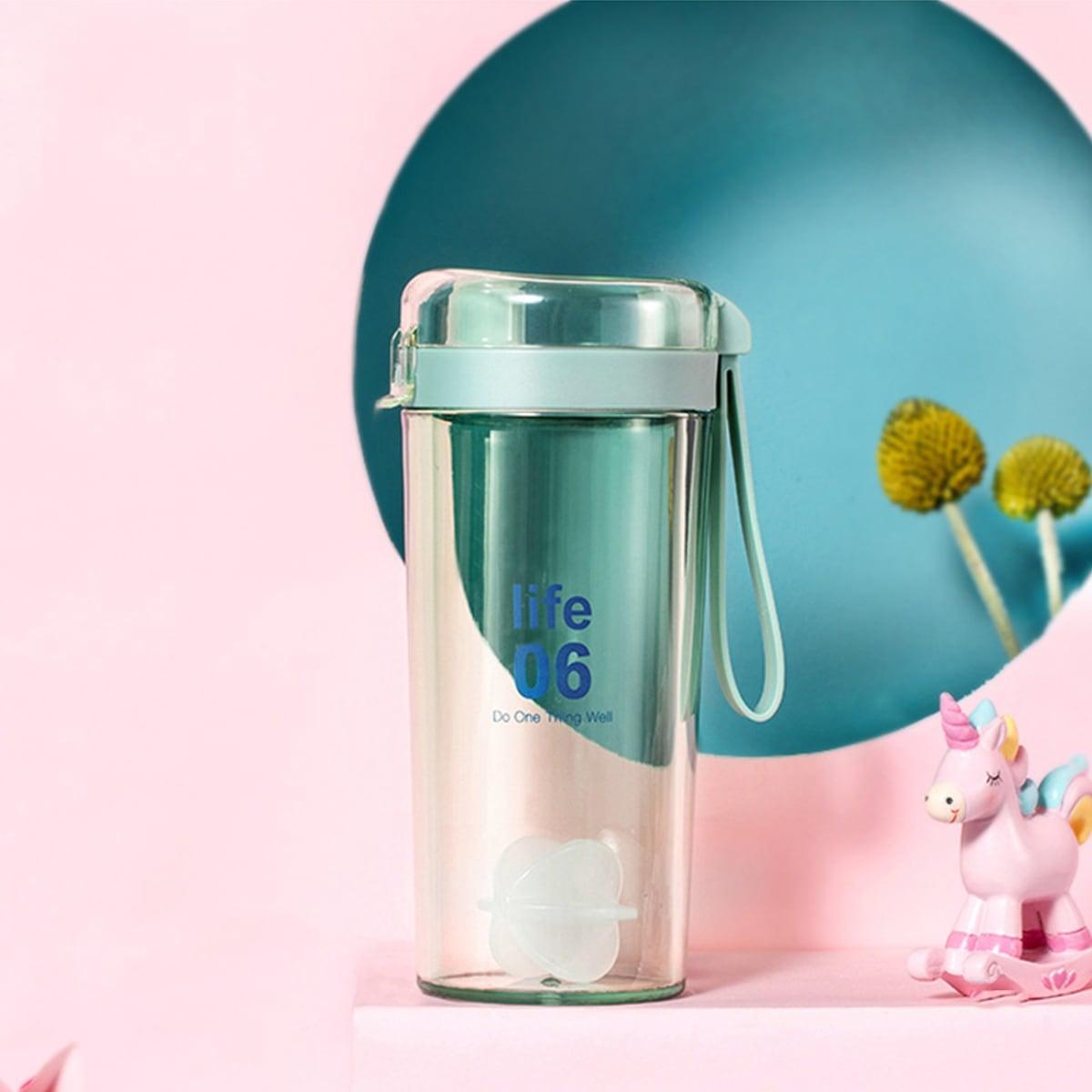 Бутылка для воды с текстовым принтом фото