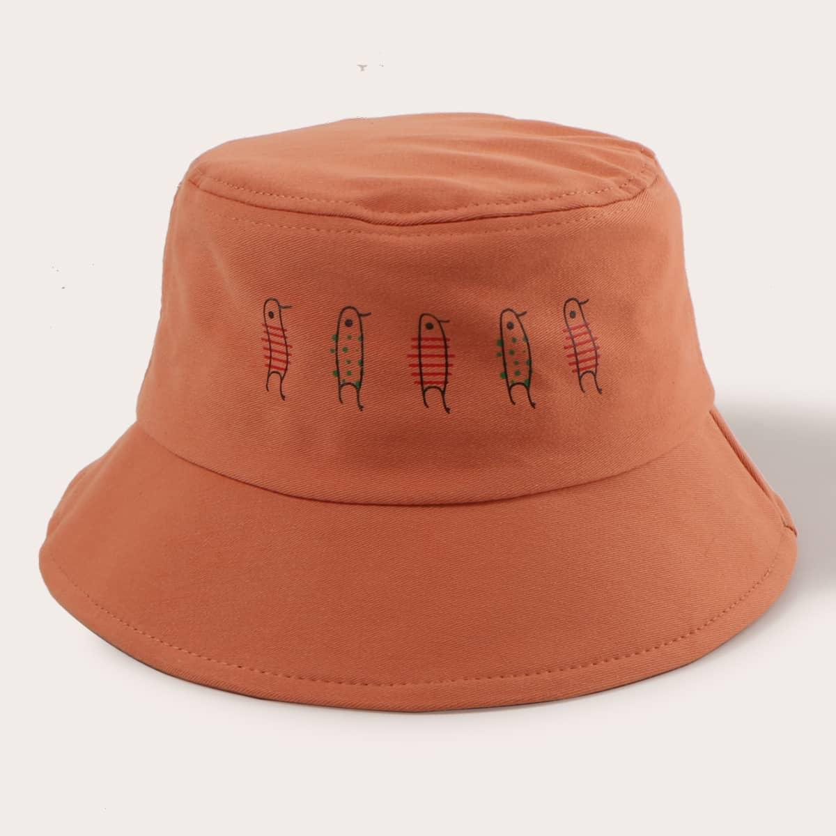Шляпа с мультипликационным рисунком фото
