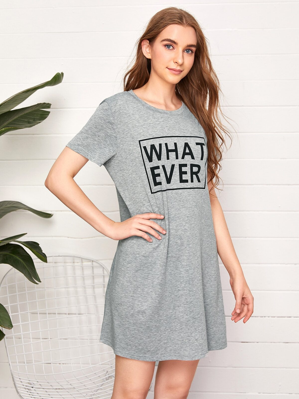 Letter Graphic Lounge Dress