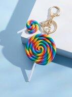 Lollipop Charm Keychain