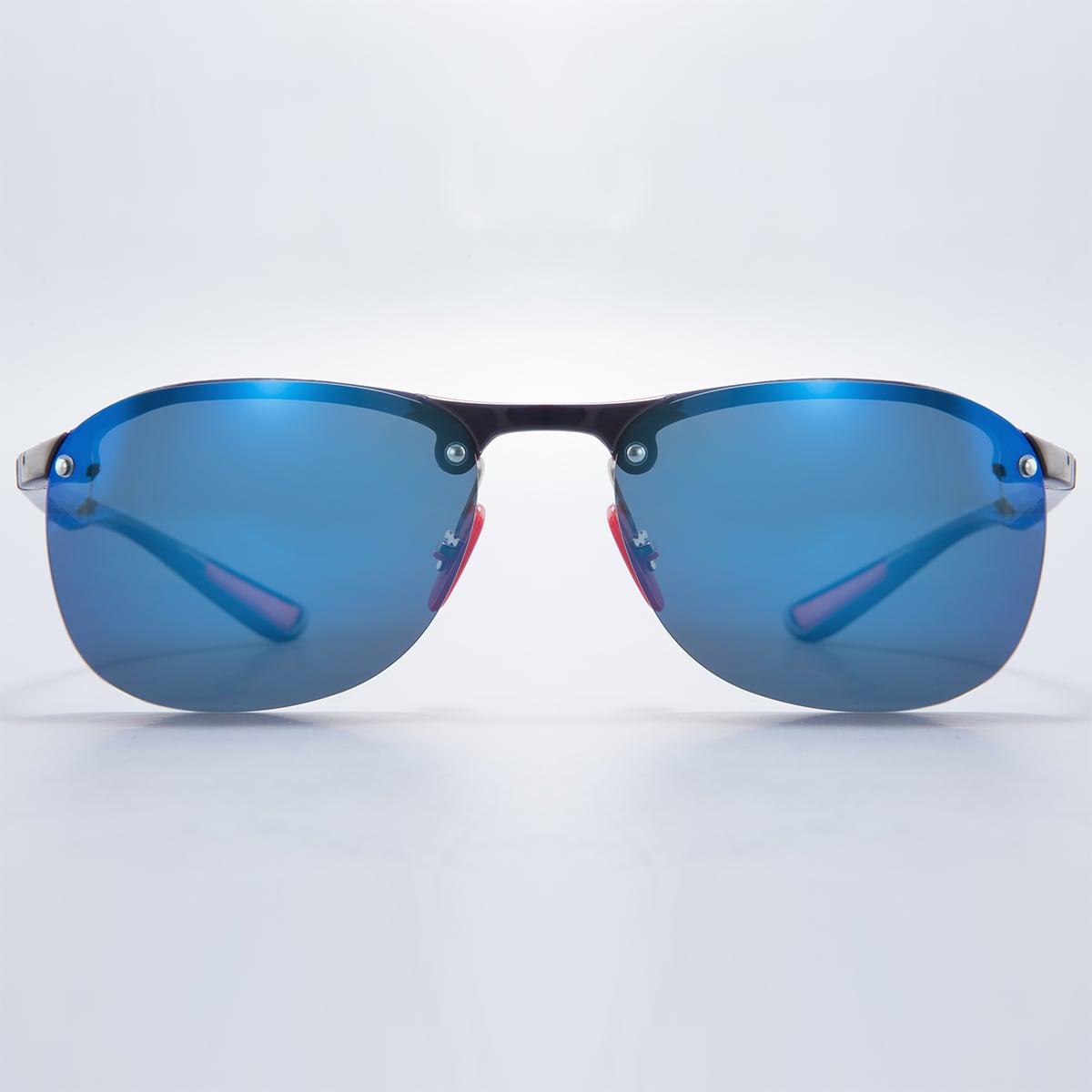 Мужские поляризованные солнечные очки без оправы фото