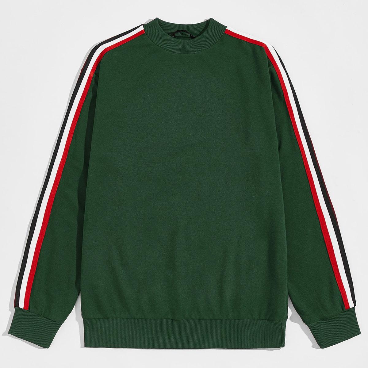 Мужской пуловер с полосками от SHEIN