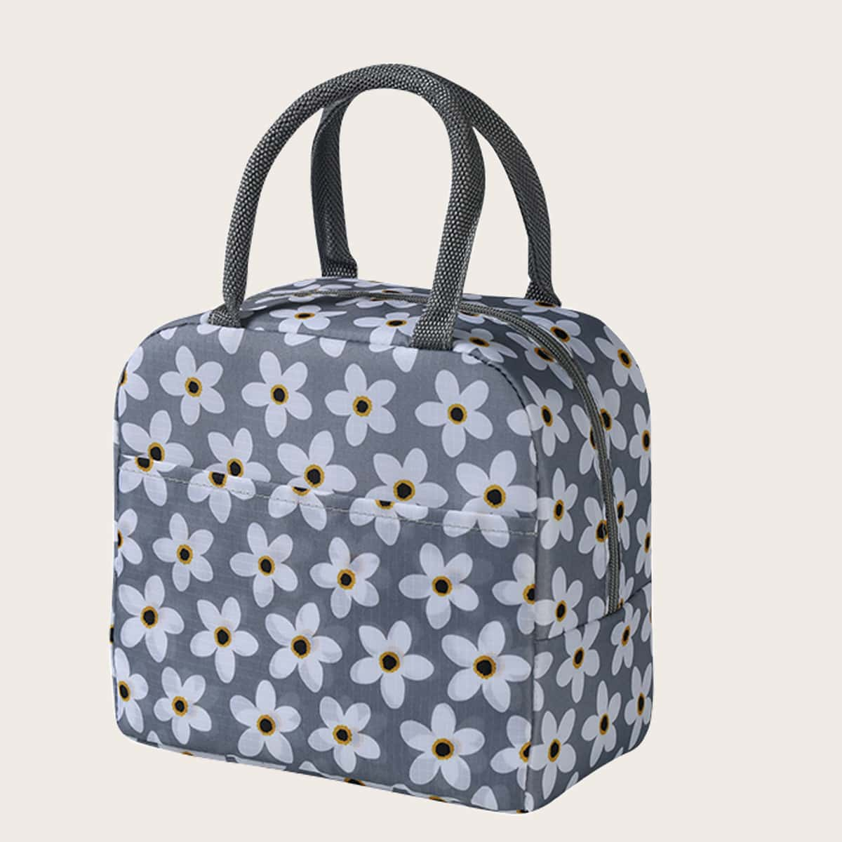 SHEIN / 1pc Flower Print Lunch Bag