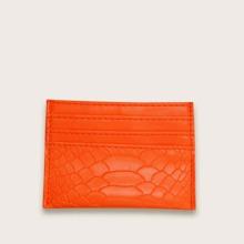 Neon Orange Snakeskin Purse (swbag03200716403) photo
