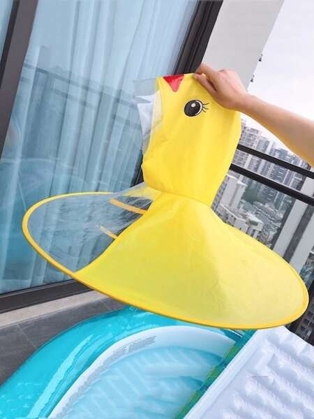 Kids Cartoon Duck Raincoat