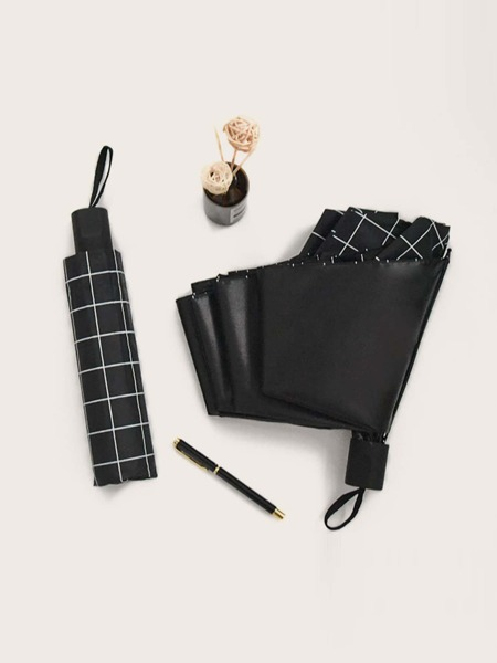 Plaid Pattern Umbrella