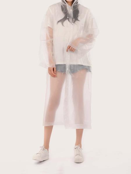 Clear Hooded Raincoat