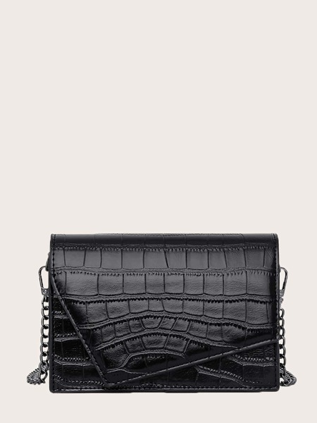 Croc Embossed Crossbody Bag