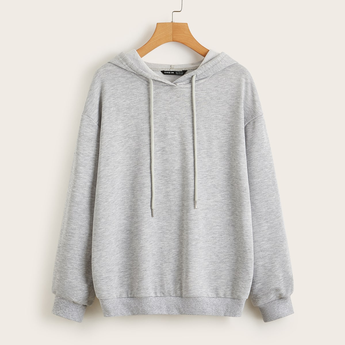 SHEIN / Drop Shoulder Heather Gray Hoodie
