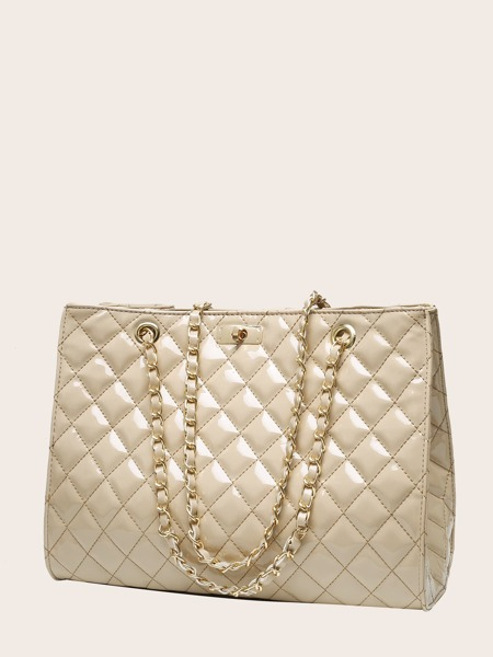 Large Capacity Quilted Tote Bag