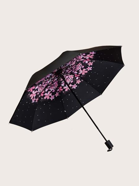 Flower Print Umbrella