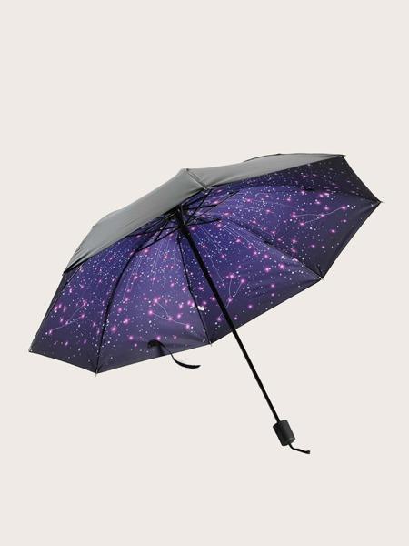 1pc Galaxy Pattern Vinyl Umbrella