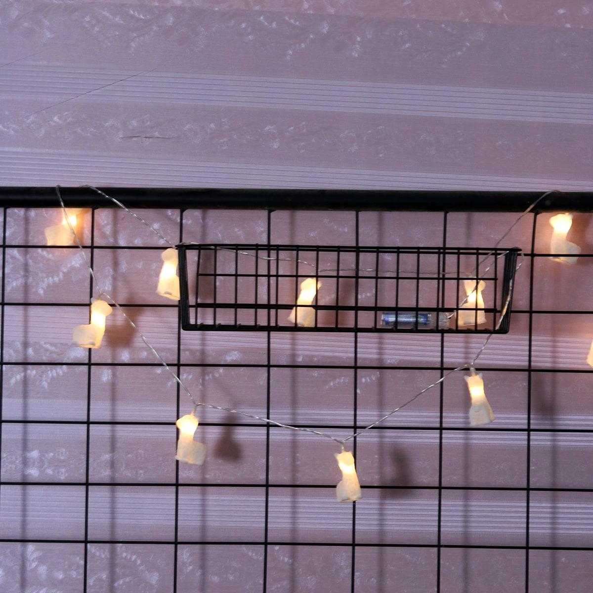 SHEIN / 1 Stück Lichtkette & 10 Stücken Glühbirnen in Alpakaform