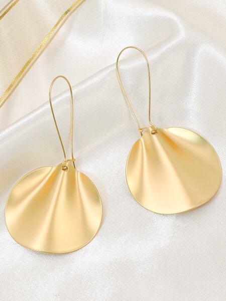 Simple Disc Drop Earrings