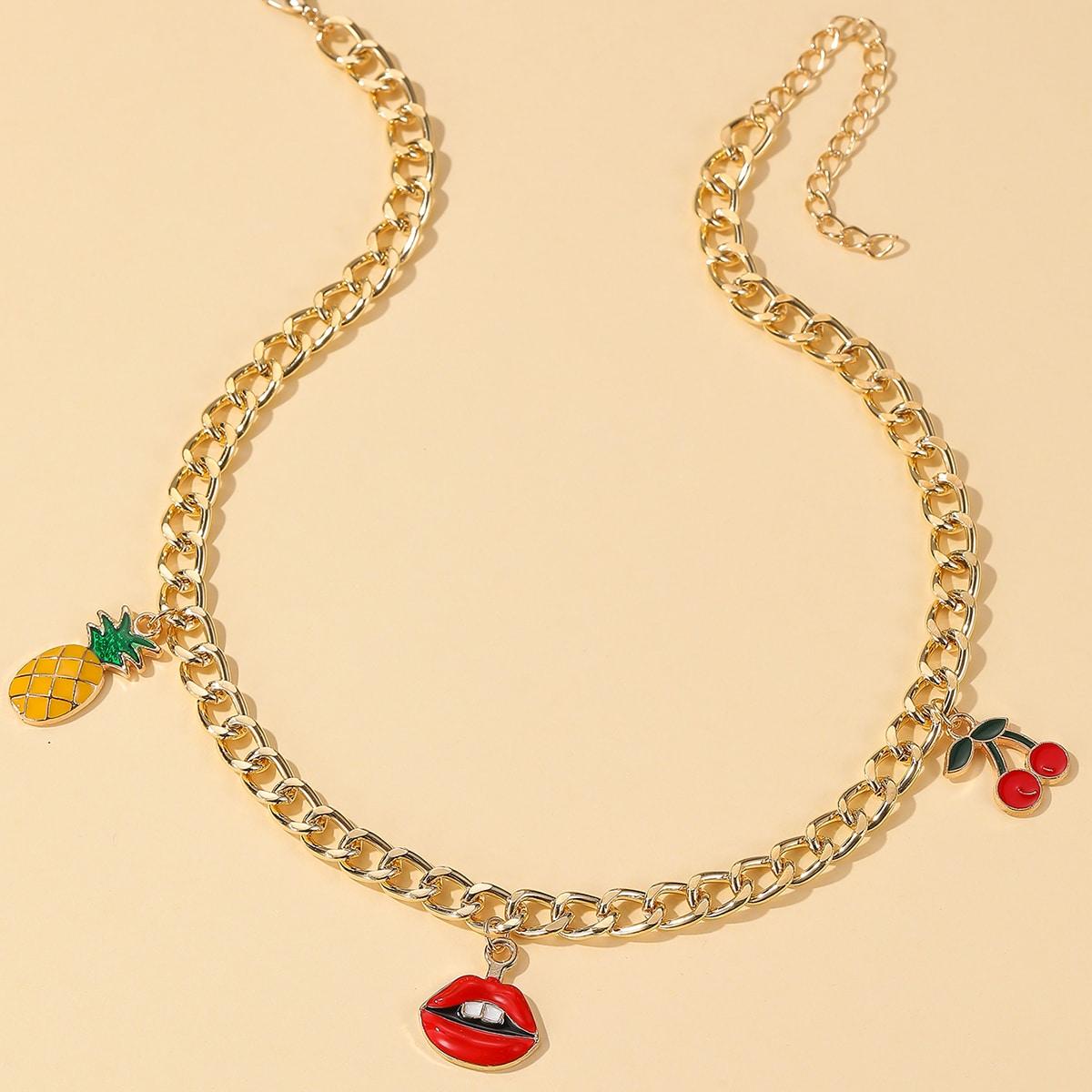 SHEIN / Halskette mit Kirschen Dekor