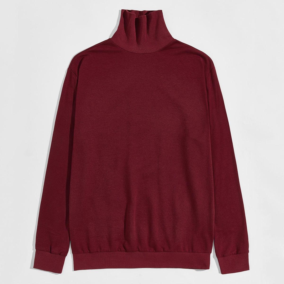 Мужской пуловер с высоким воротником от SHEIN