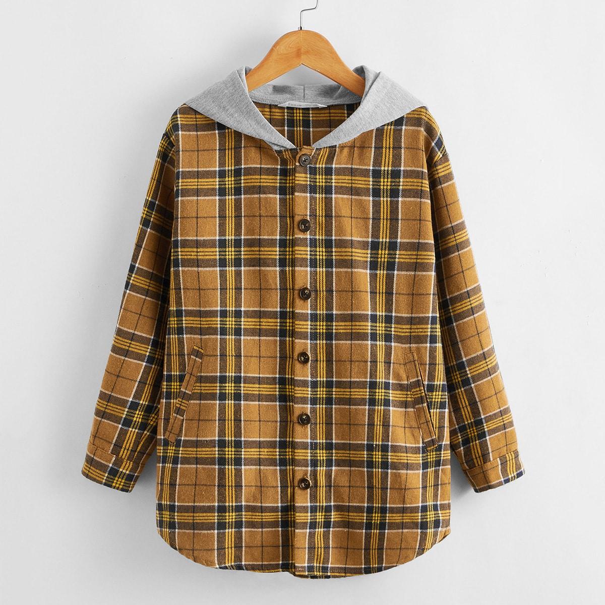 Пальто в клетку для мальчиков от SHEIN