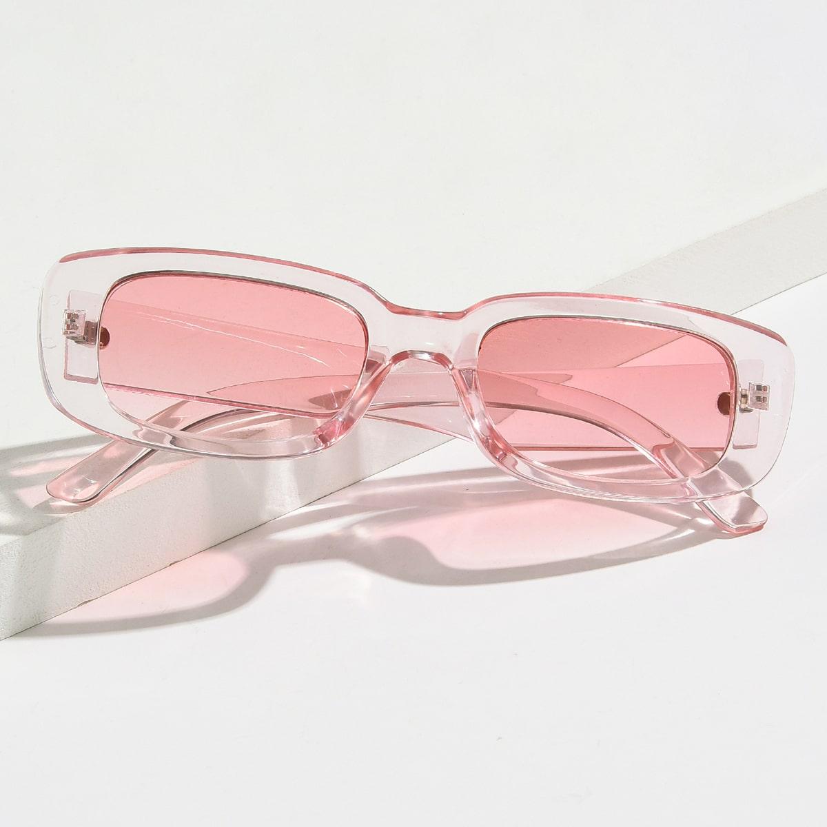 Солнечные очки в прозрачной оправе фото