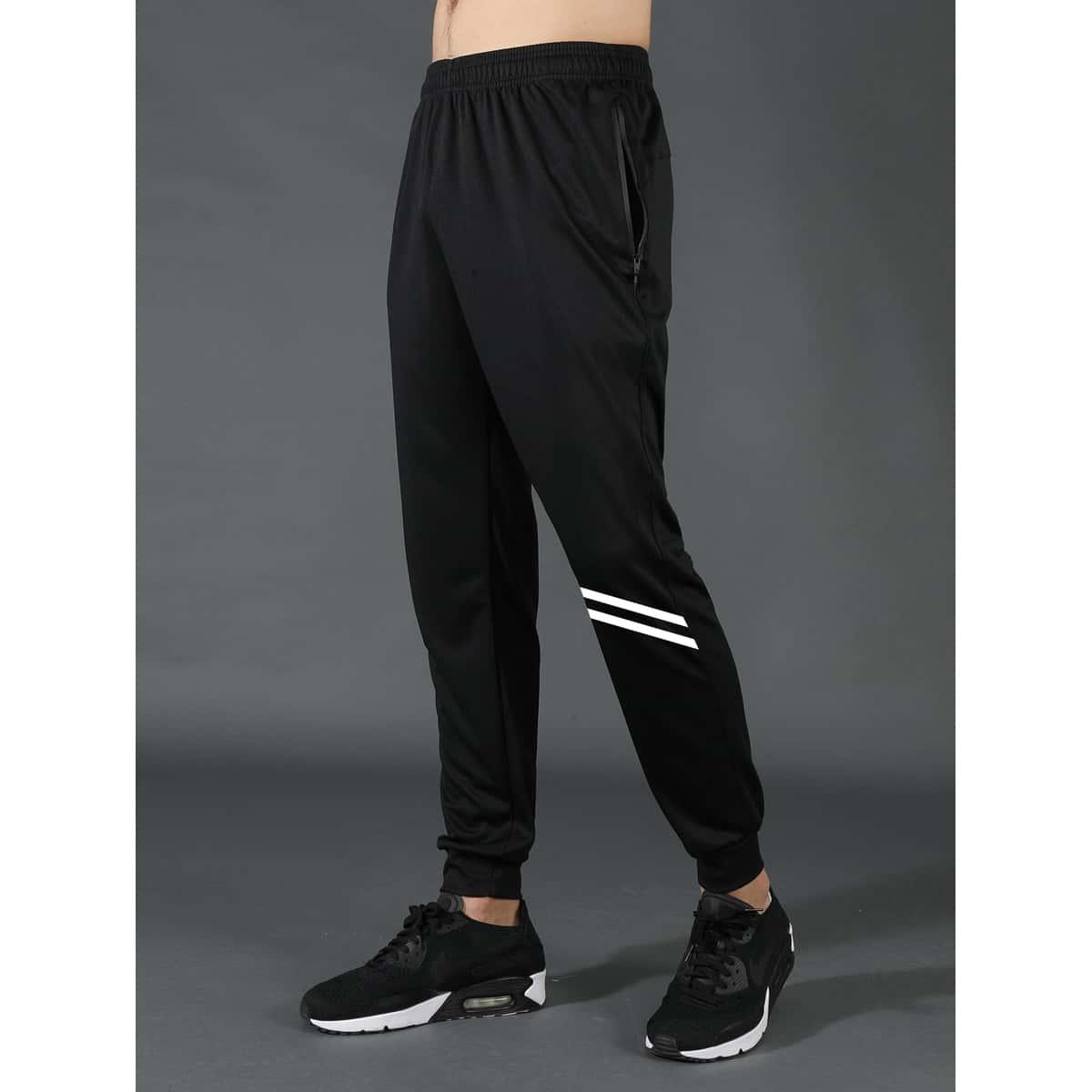 Мужские спортивные брюки с полосатым принтом