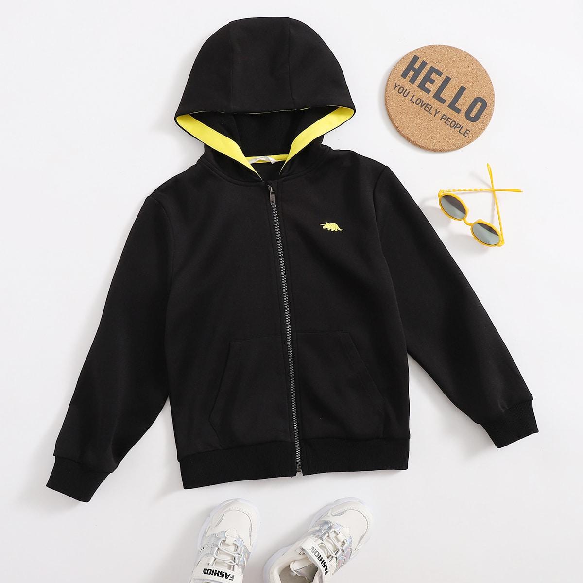 Черный Пальто для мальчиков от SHEIN