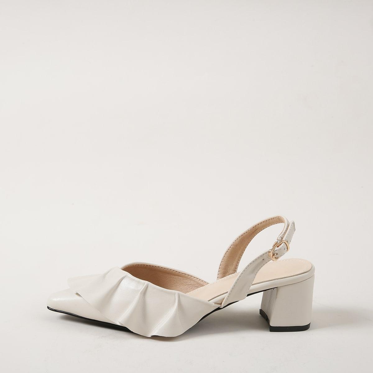 Туфли с массивным каблуком фото