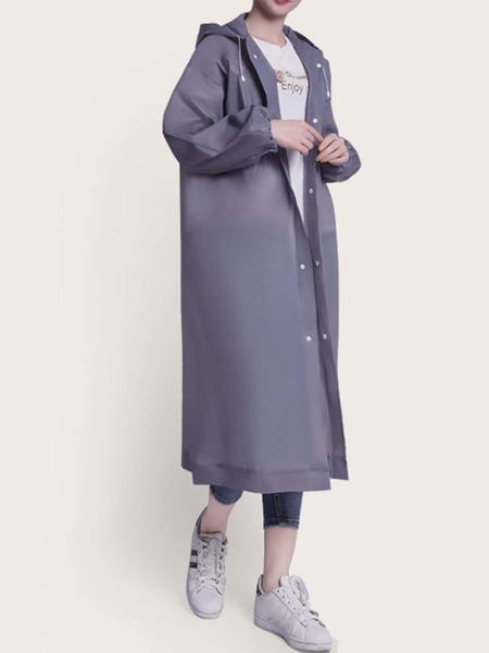 1pc Button Front Solid Raincoat