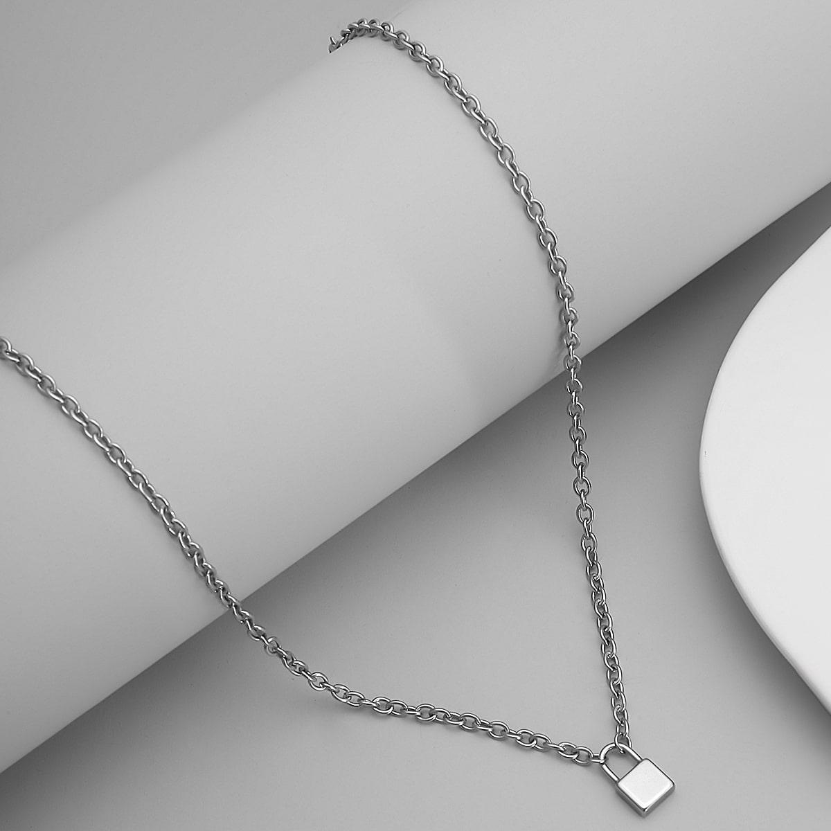 Мужское ожерелье-цепочка с замком от SHEIN
