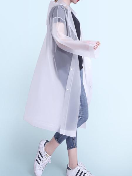 Plain Hooded Raincoat