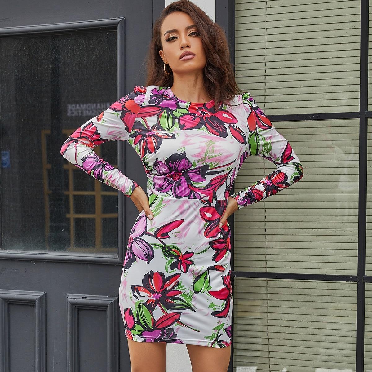 Eilly Bazar платье с цветочным принтом и молнией сзади