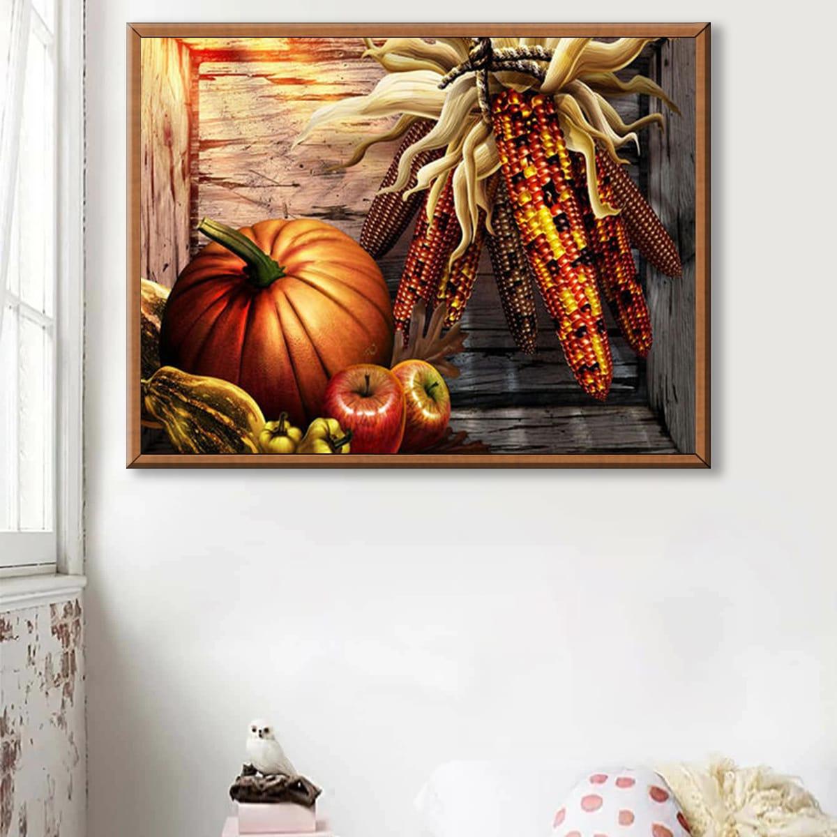 Pintura de diamante DIY con patrón de alimento de Halloween