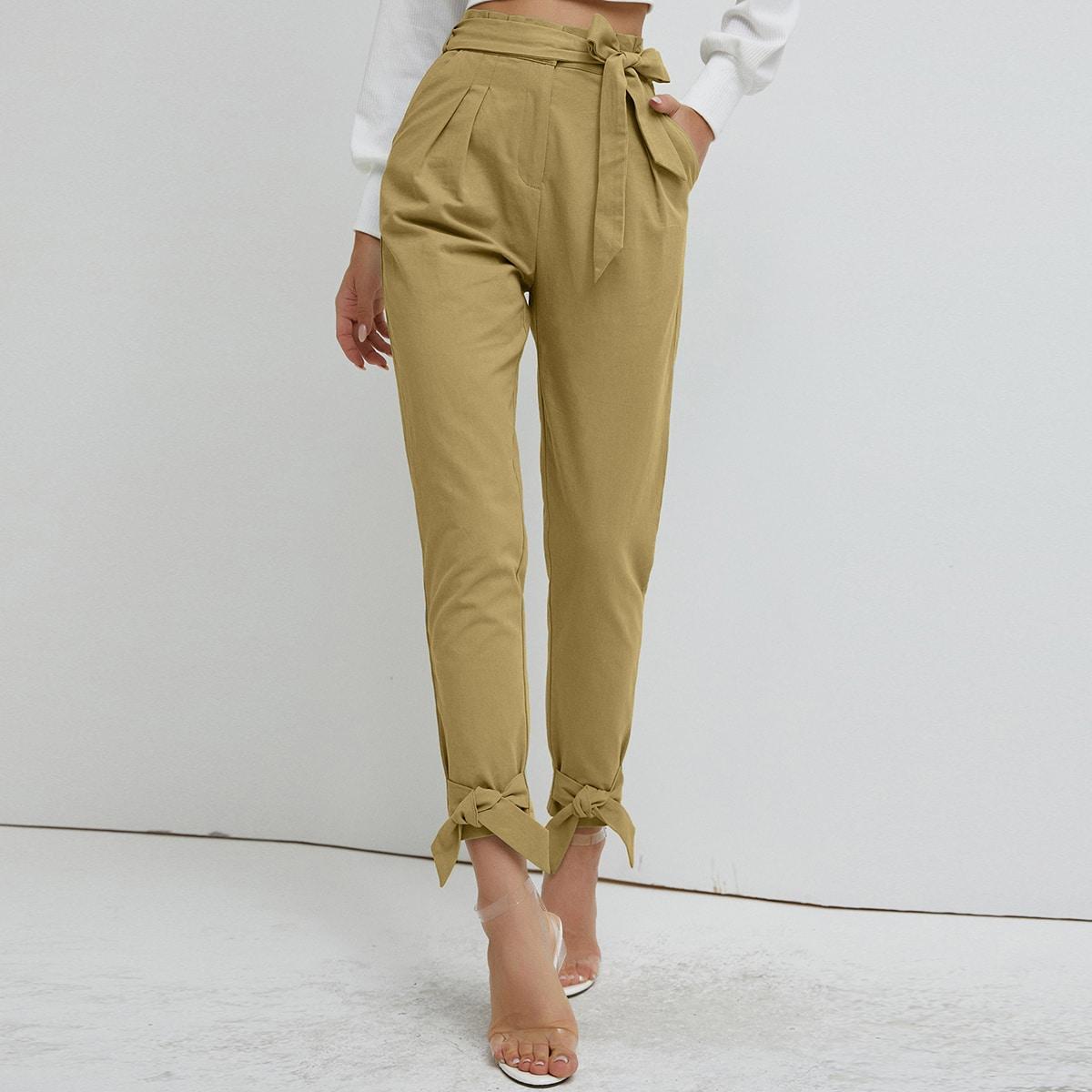 SHEIN / SBetro pantalones cortos con cinturón bajo con nudo