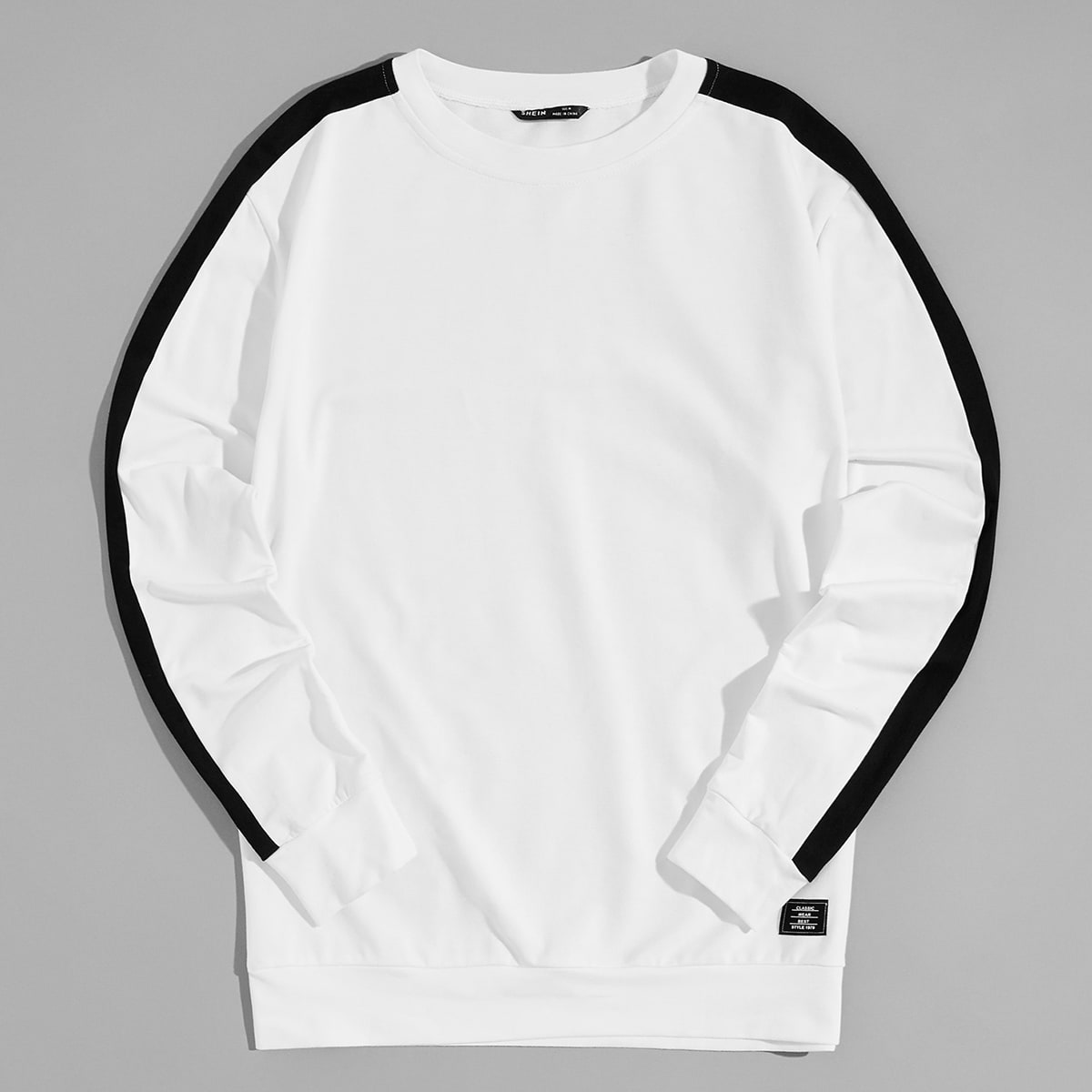 Мужской пуловер с заплатой от SHEIN