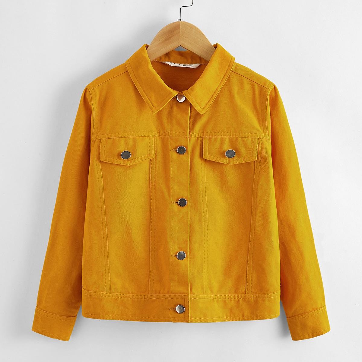 Однобортная куртка для мальчиков от SHEIN