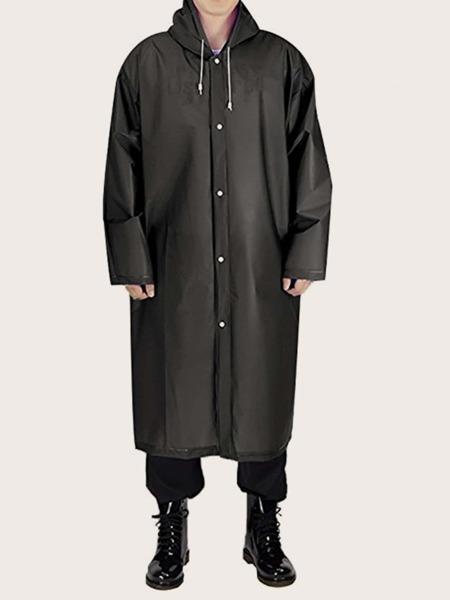 Solid Hooded Raincoat