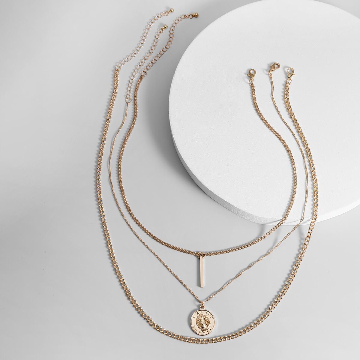 3шт мужское ожерелье от SHEIN