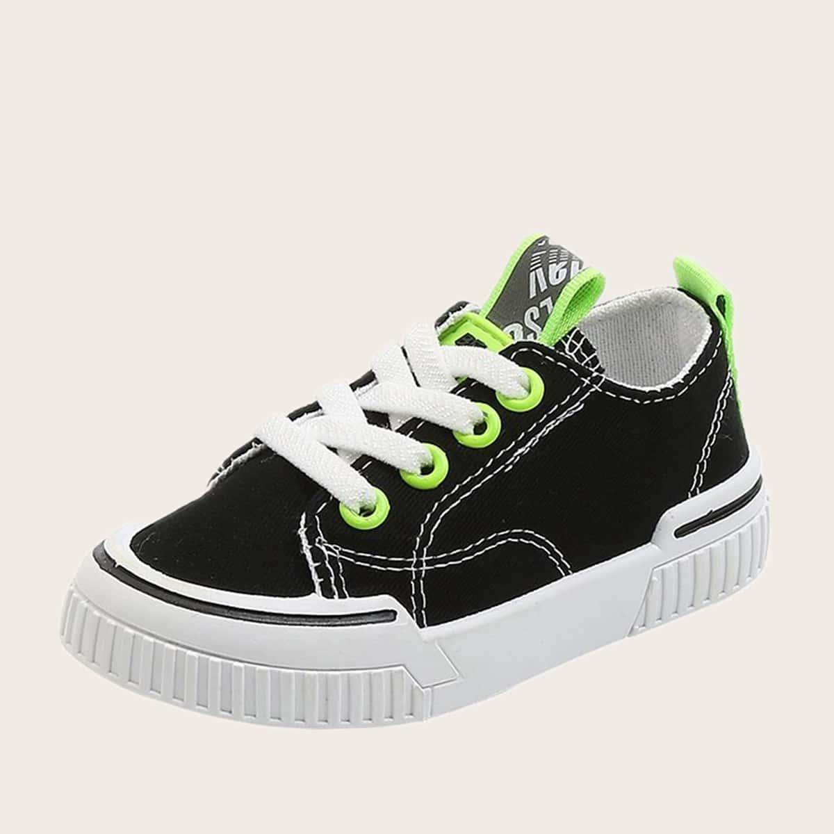 Холщовые туфли на шнурках для девочек от SHEIN