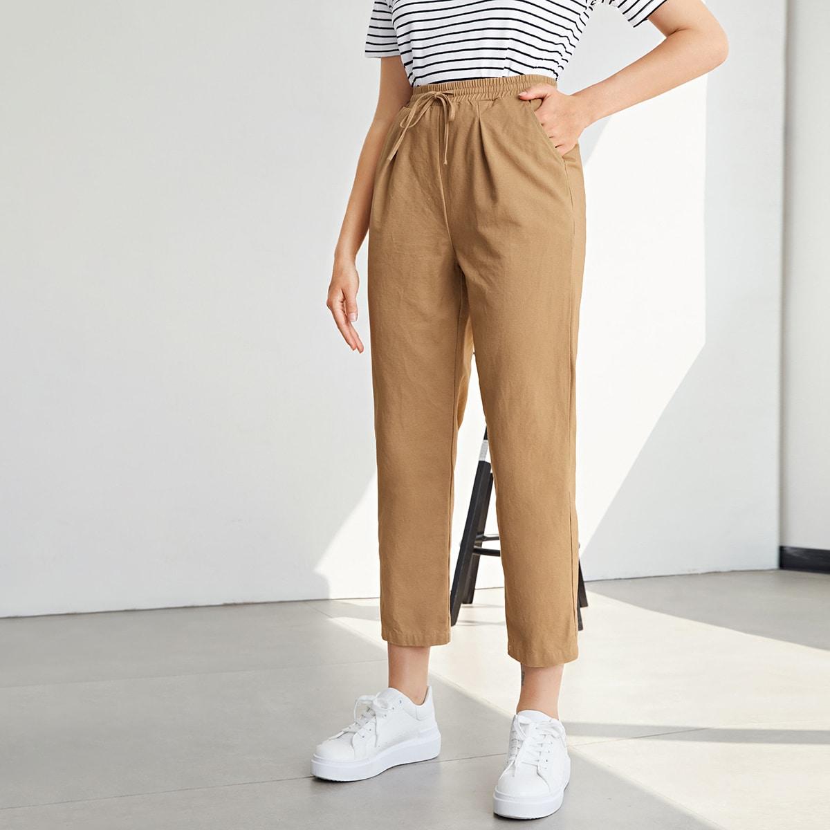 SHEIN / Pantalones cortos de cintura con cordón