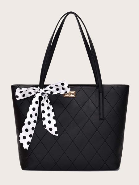 Polka Dot Twilly Scarf Tote Bag